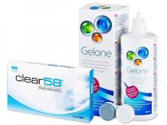 Clear 58 (6lęšiai) +valomasis tirpalas Gelone360ml