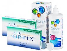 Air Optix for Astigmatism (2x3lęšiai) +valomasis tirpalas Gelone 360ml