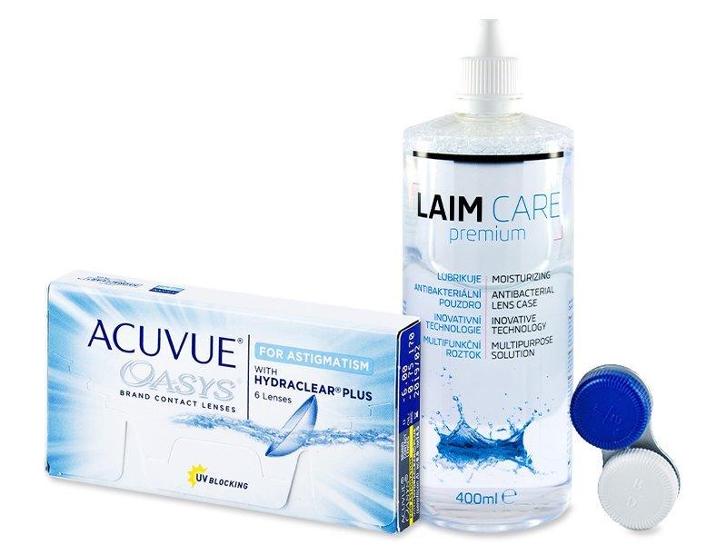 Acuvue Oasys for Astigmatism (6lęšiai) +valomasis tirpalas Laim-Care 400 ml