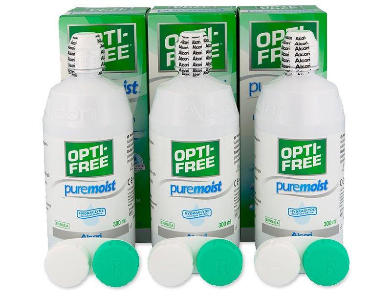 Valomasis tirpalas Opti-Free PureMoist 3x300ml