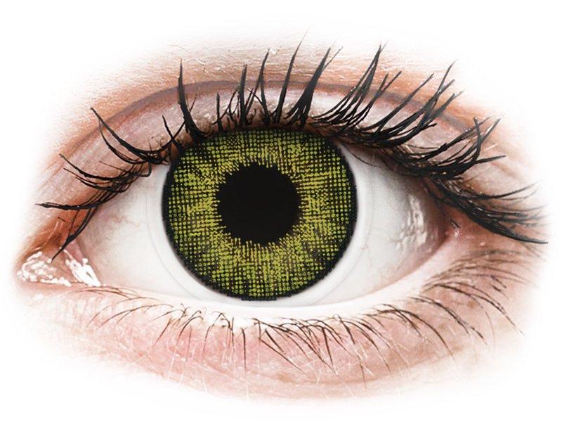 Air Optix Colors - Gemstone Green - be dioptrijų (2 lęšiai)