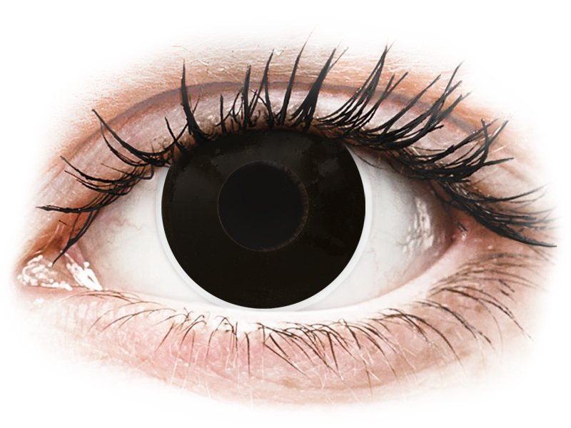 ColourVUE Crazy Lens - BlackOut - be dioptrijų (2 lęšiai)