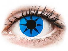ColourVUE Crazy Lens - Blue Star - be dioptrijų (2 lęšiai)