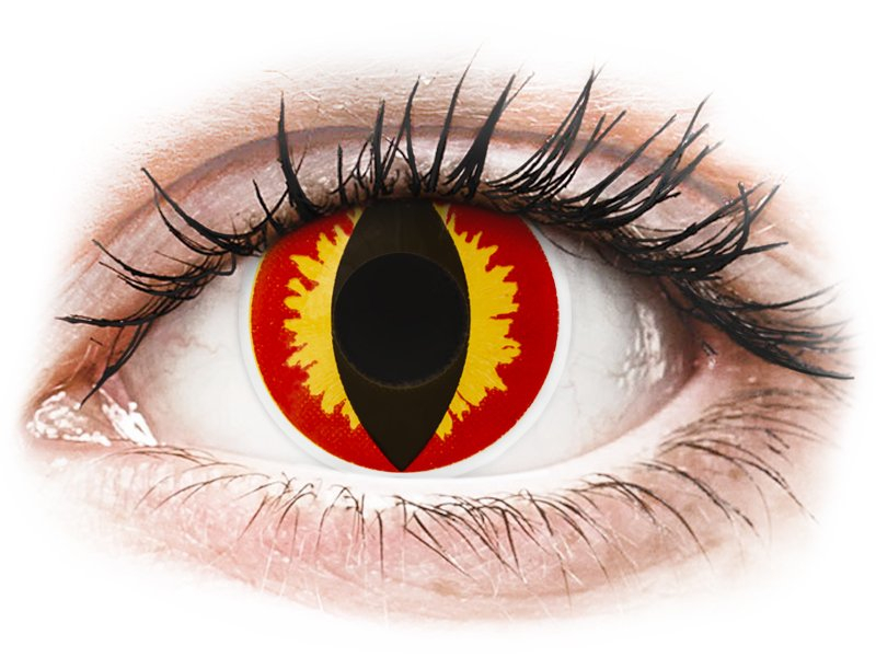 ColourVUE Crazy Lens - Dragon Eyes - be dioptrijų (2 lęšiai)