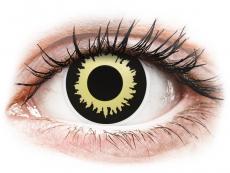 ColourVUE Crazy Lens - Eclipse - be dioptrijų (2 lęšiai)