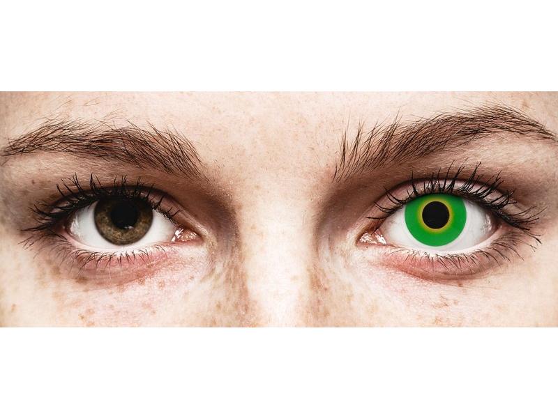 ColourVUE Crazy Lens - Hulk Green - be dioptrijų (2 lęšiai)