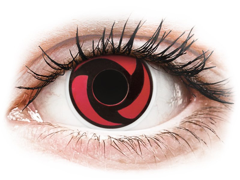 ColourVUE Crazy Lens - Mangekyu - be dioptrijų (2 lęšiai)