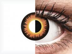ColourVUE Crazy Lens - Orange Werewolf - be dioptrijų (2 lęšiai)