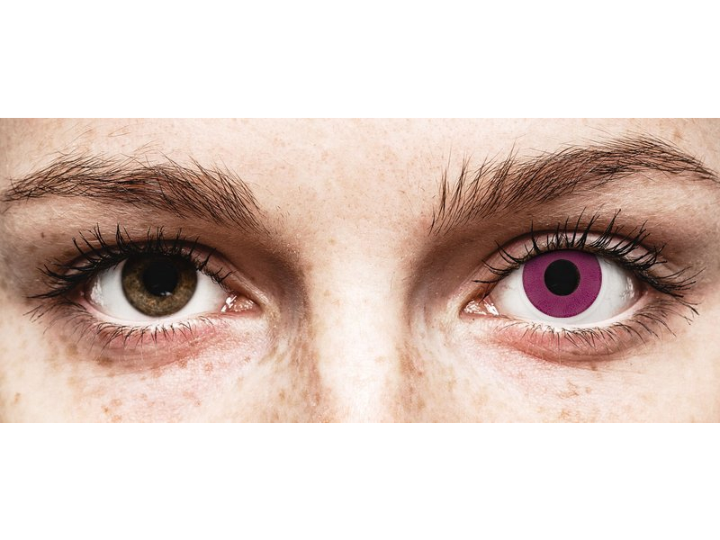 ColourVUE Crazy Lens - Purple - be dioptrijų (2 lęšiai)