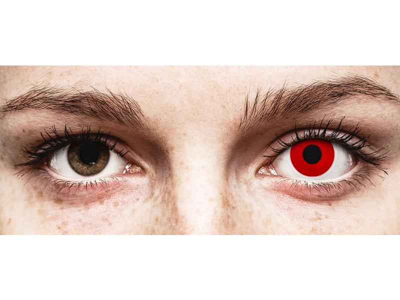 ColourVUE Crazy Lens - Red Devil - be dioptrijų (2 lęšiai)