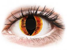 ColourVUE Crazy Lens - Saurons Eye - be dioptrijų (2 lęšiai)
