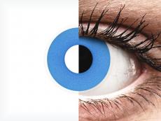 ColourVUE Crazy Lens - Sky Blue - be dioptrijų (2 lęšiai)