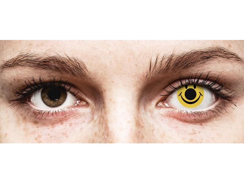 ColourVUE Crazy Lens - Smiley - be dioptrijų (2 lęšiai)