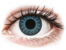 ColourVUE Crazy Lens - Solar Blue - be dioptrijų (2 lęšiai)