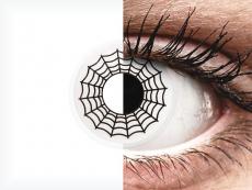 ColourVUE Crazy Lens - Spider - be dioptrijų (2 lęšiai)