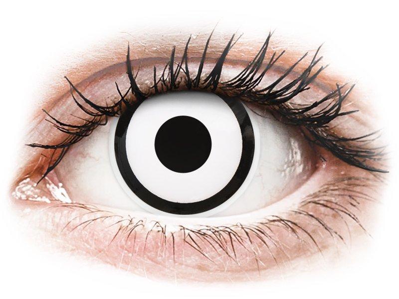 ColourVUE Crazy Lens - White Zombie - be dioptrijų (2 lęšiai)