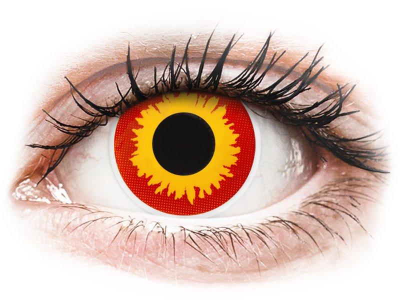 ColourVUE Crazy Lens - Wildfire - be dioptrijų (2 lęšiai)