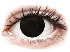 ColourVUE Crazy Lens - BlackOut - su dioptrijomis (2 lęšiai)