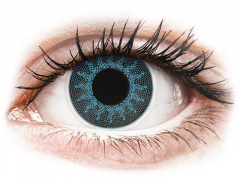 ColourVUE Crazy Lens - Solar Blue - su dioptrijomis (2 lęšiai)