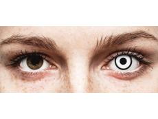 ColourVUE Crazy Lens - White Zombie - su dioptrijomis (2 lęšiai)