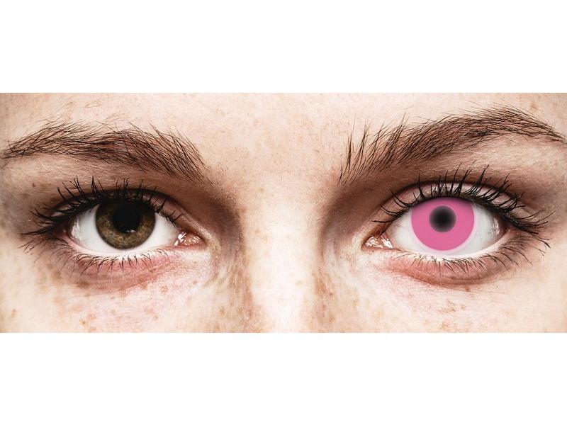 ColourVUE Crazy Glow Pink - be dioptrijų (2 lęšiai)