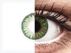 TopVue Color - Green - su dioptrijomis (2 lęšiai)