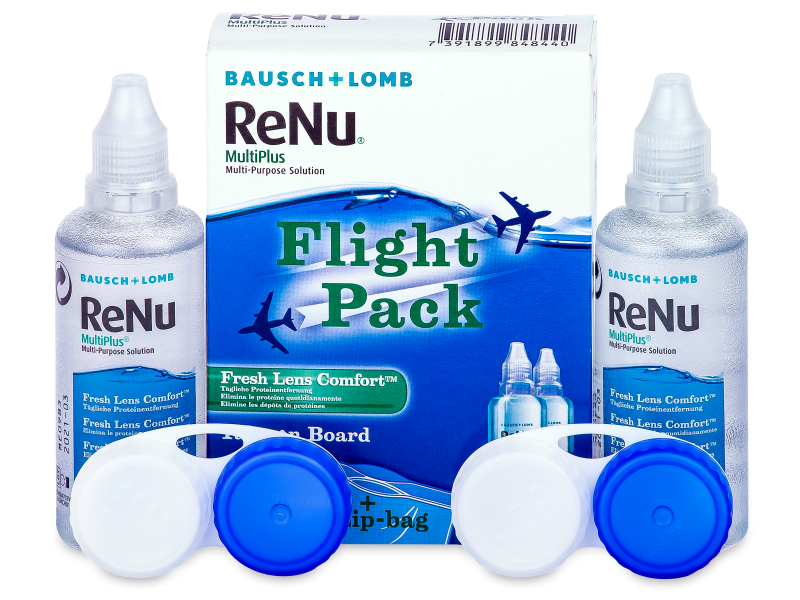 Valomasis tirpalas ReNu Multiplus flight pack 2 x 60 ml