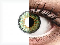 ColourVUE Glamour Green - su dioptrijomis (2 lęšiai)