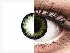 ColourVUE BigEyes Party Green - be dioptrijų (2 lęšiai)