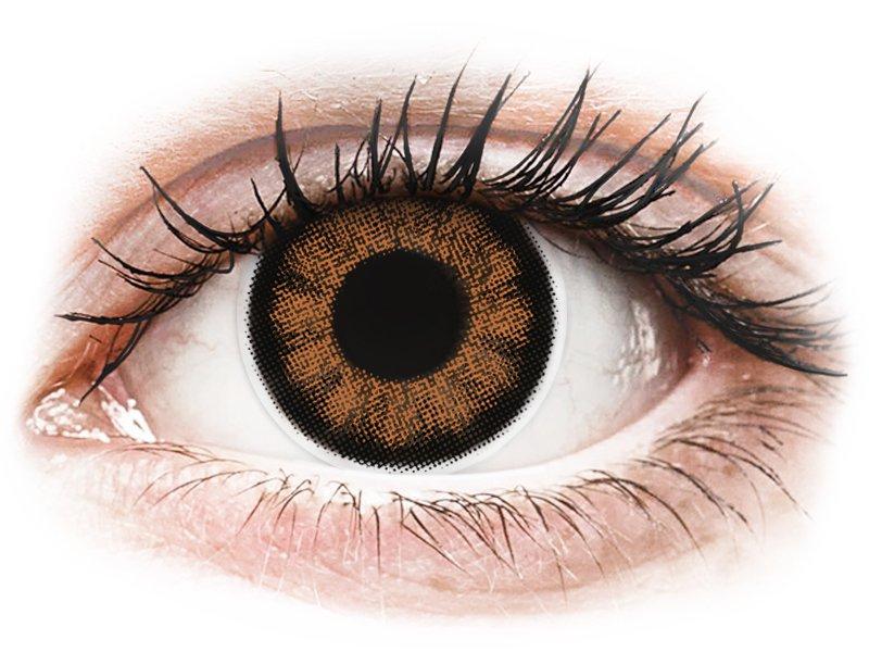 ColourVUE BigEyes Sexy Brown - su dioptrijomis (2 lęšiai)