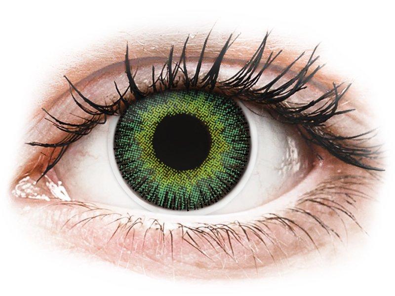 ColourVUE Fusion Green Yellow - be dioptrijų (2 lęšiai)