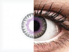 ColourVUE Fusion Violet Gray - be dioptrijų (2 lęšiai)