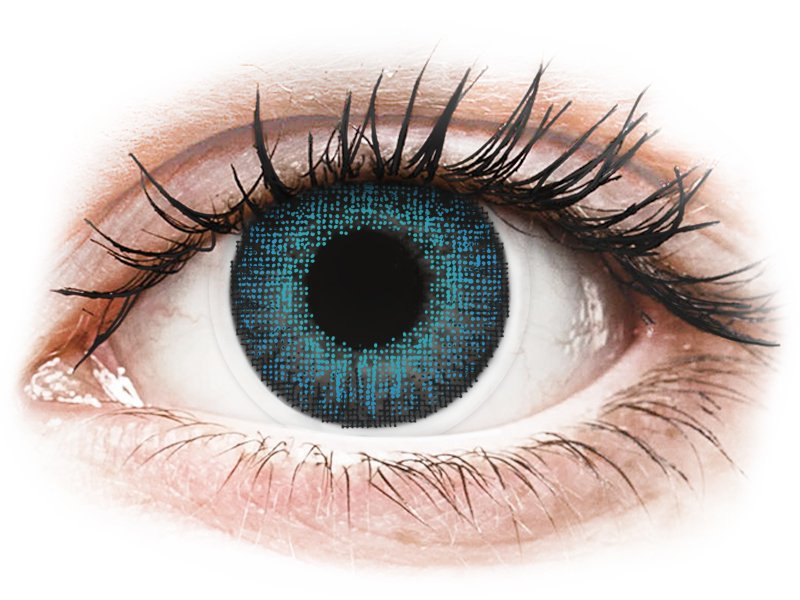 Air Optix Colors - Brilliant Blue - be dioptrijų (2 lęšiai)
