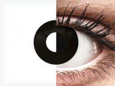 ColourVUE Crazy Lens - Blackout - vienadieniai be dioptrijų (2 lęšiai)
