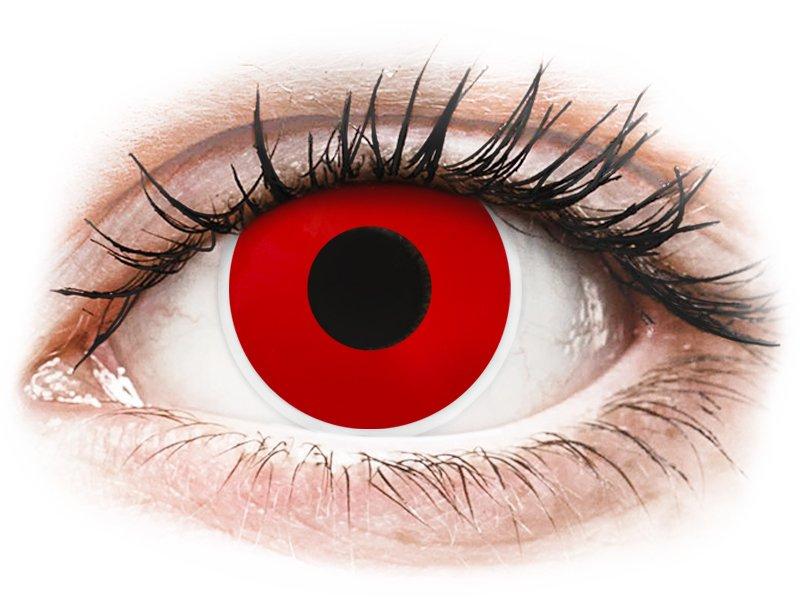 ColourVUE Crazy Lens - Red Devil - vienadieniai be dioptrijų (2 lęšiai)