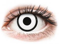 ColourVUE Crazy Lens - White Zombie - vienadieniai be dioptrijų (2 lęšiai)