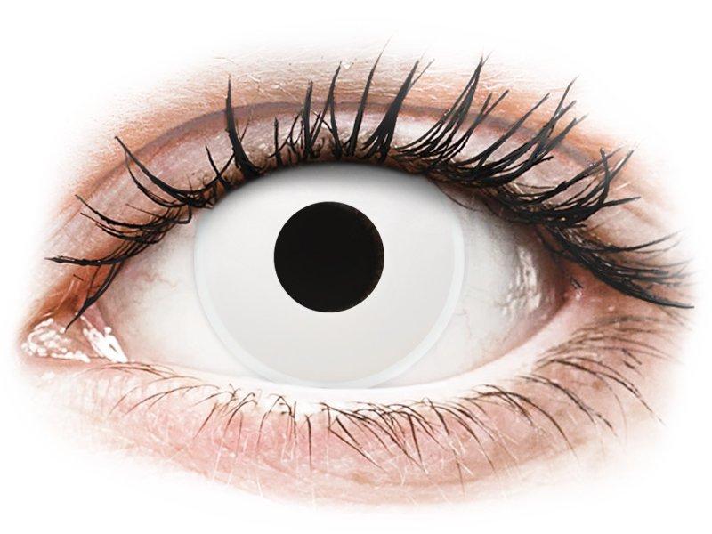 ColourVUE Crazy Lens - Whiteout - vienadieniai be dioptrijų (2 lęšiai)