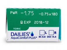 Dailies AquaComfort Plus Toric (30lęšių)