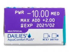 Dailies AquaComfort Plus Multifocal (30lęšių)