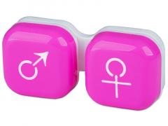 """Lęšių dėkliukas """"Vyras ir moteris"""" (rožinis)"""