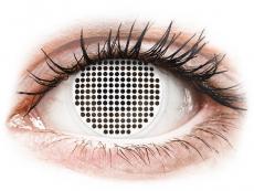 ColourVUE Crazy Lens - White Screen - be dioptrijų (2 lęšiai)