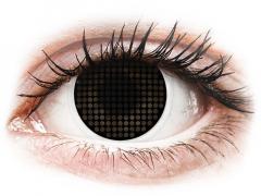ColourVUE Crazy Lens - Black Screen - be dioptrijų (2 lęšiai)