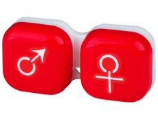 """Lęšių dėkliukas """"Vyras ir moteris"""" (raudonas)"""