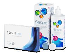 TopVue Air (6 lęšiai) +valomasis tirpalas Gelone360ml