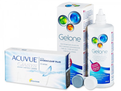 Acuvue Oasys (12 lęšių) + valomasis tirpalas Gelone 360 ml