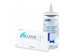 Acuvue 2 (6 lęšiai) + valomasis tirpalas Laim-Care 400 ml