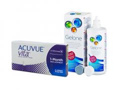 Acuvue Vita (6 lęšiai) + valomasis tirpalas Gelone 360 ml