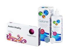 Avaira Vitality (6 lęšiai) + valomasis tirpalas Gelone 360 ml