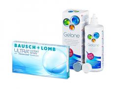 Bausch + Lomb ULTRA (3 lęšiai) + valomasis tirpalas Gelone 360 ml