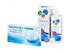 Bausch + Lomb ULTRA (6 lęšiai) + valomasis tirpalas Gelone 360 ml